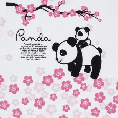 Imagem 3 do produto Pijama longo que Brilha no Escuro Panda - Cara de Criança - L1816 PANDA SAKURA L PJ - LONGO M/MALHA-1