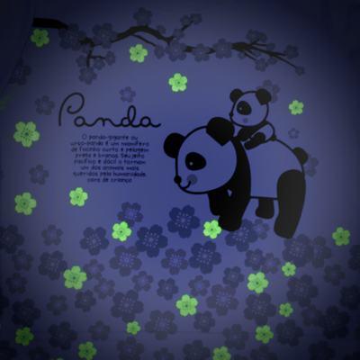 Imagem 4 do produto Pijama longo que Brilha no Escuro Panda - Cara de Criança - L1816 PANDA SAKURA L PJ - LONGO M/MALHA-1