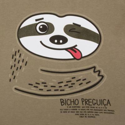 Imagem 3 do produto Pijama que Brilha no Escuro Bicho Preguiça  - Cara de Criança - L1746 BICHO PREGUICA L PJ-LONGO M/MALHA-3