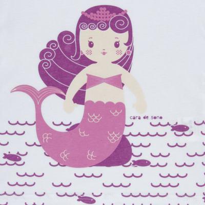 Imagem 3 do produto Pijama longo em malha Mermaid - Cara de Sono - L1995 PEQUENA SEREIA L PJ-LONGO M/MALHA -1