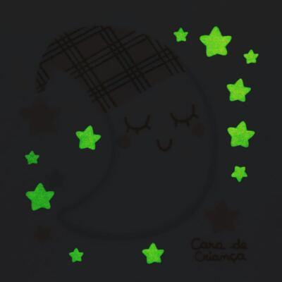Imagem 4 do produto Pijama longo que Brilha no Escuro em soft Sleepy Moon - Cara de Criança - S2368 LUA S PIJAMA-SOFT SOFT-2