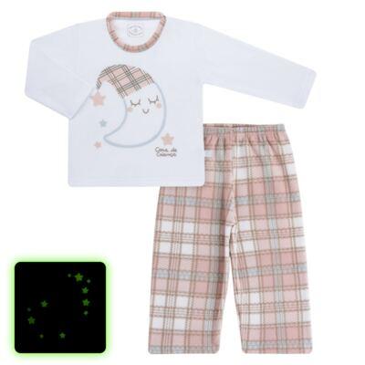 Imagem 1 do produto Pijama longo que Brilha no Escuro em soft Sleepy Moon - Cara de Criança - S2368 LUA S PIJAMA-SOFT SOFT-4