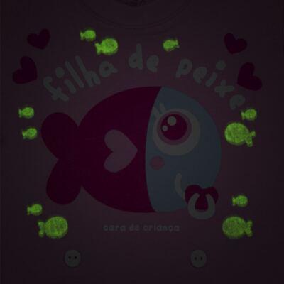 Imagem 3 do produto Pijama 4 botões que Brilha no Escuro Filha de Peixe - Cara de Criança - 4L2703 FILHA DE PEIXE 4L PJ 4 BOTOES LONGO M/MALHA-G