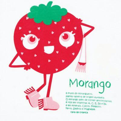 Imagem 3 do produto Pijama longo que Brilha no Escuro Moranguinho - Cara de Criança - L1635 MORANGO L PJ-LONGO M/MALHA-3