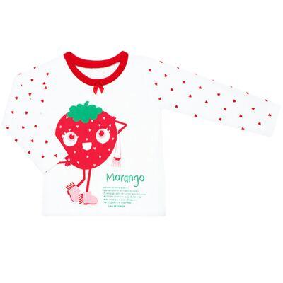 Imagem 2 do produto Pijama longo que Brilha no Escuro Moranguinho - Cara de Criança - L1635 MORANGO L PJ-LONGO M/MALHA-2