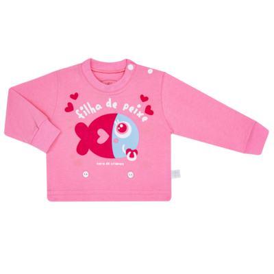 Imagem 2 do produto Pijama 4 botões que Brilha no Escuro Filha de Peixe - Cara de Criança - 4L2703 FILHA DE PEIXE 4L PJ 4 BOTOES LONGO M/MALHA-M