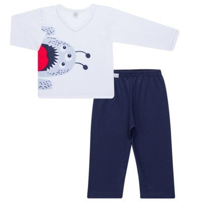 Imagem 1 do produto Pijama longo em malha Monstrinho - Cara de Sono - L2452 MONSTRINHO L PJ-LONGO M/MALHA-1