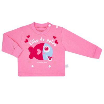 Imagem 2 do produto Pijama 4 botões que Brilha no Escuro Filha de Peixe - Cara de Criança - 4L2703 FILHA DE PEIXE 4L PJ 4 BOTOES LONGO M/MALHA-P