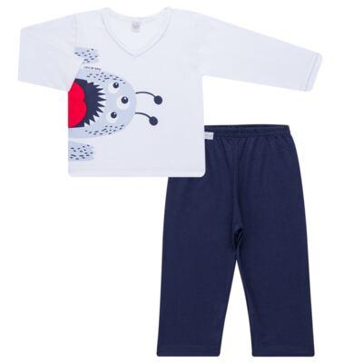Imagem 1 do produto Pijama longo em malha Monstrinho - Cara de Sono - L2452 MONSTRINHO L PJ-LONGO M/MALHA-2