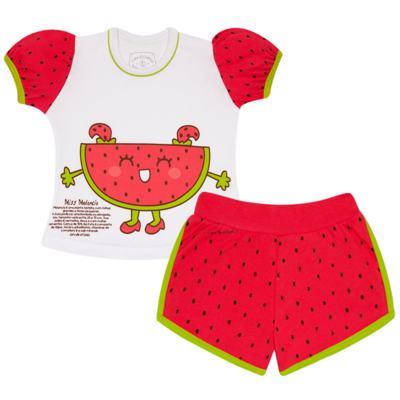 Imagem 1 do produto Pijama Curto que Brilha no Escuro Melancia - Cara de Criança - U0686 PIJAMA CURTO QUE BRILHA NO ESCURO MELANCIA-4