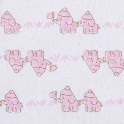 Imagem 3 do produto Conjunto Pagão Elefantinha: Casaquinho + Body longo + Calça - Tilly Baby - TB170221.02 KIT BODY CALCA E CASACO ELEFANTINHOS ROSA BEBE-M