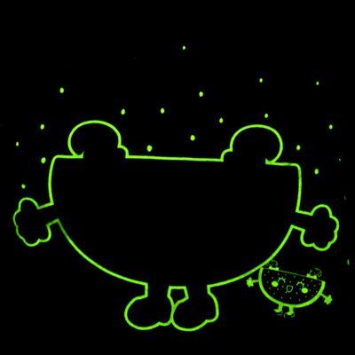 Imagem 5 do produto Pijama Curto que Brilha no Escuro Melancia - Cara de Criança - U0686 PIJAMA CURTO QUE BRILHA NO ESCURO MELANCIA-2