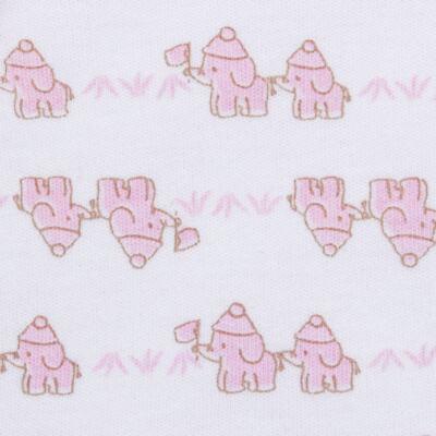 Imagem 3 do produto Conjunto Pagão Elefantinha: Casaquinho + Body longo + Calça - Tilly Baby - TB170221.02 KIT BODY CALCA E CASACO ELEFANTINHOS ROSA BEBE-RN