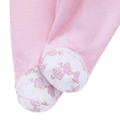 Imagem 7 do produto Conjunto Pagão Elefantinha: Casaquinho + Body longo + Calça - Tilly Baby - TB170221.02 KIT BODY CALCA E CASACO ELEFANTINHOS ROSA BEBE-P