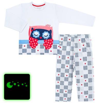 Imagem 1 do produto Pijama longo que Brilha no escuro Coruja - Cara de Criança - L2394 CORUJA L PJ-LONGO M/MALHA-6