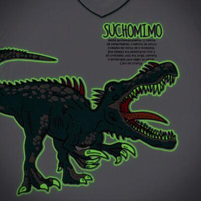 Imagem 4 do produto Pijama longo que Brilha no escuro Dinossauro - Cara de Criança - L2356 DINOSSAURO L PJ-LONGO M/MALHA-3