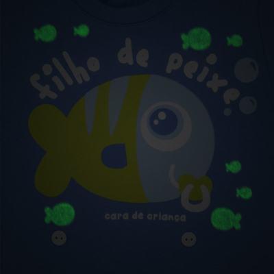 Imagem 3 do produto Pijama 4 botões que Brilha no Escuro Filho de Peixe - Cara de Criança - 4L2704 FILHO DE PEIXE 4L PJ 4 BOTOES LONGO M/MALHA-G
