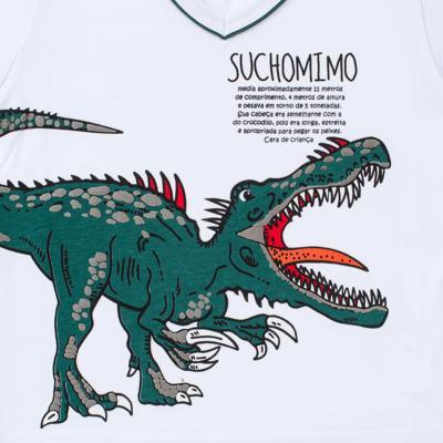 Imagem 3 do produto Pijama longo que Brilha no escuro Dinossauro - Cara de Criança - L2356 DINOSSAURO L PJ-LONGO M/MALHA-2