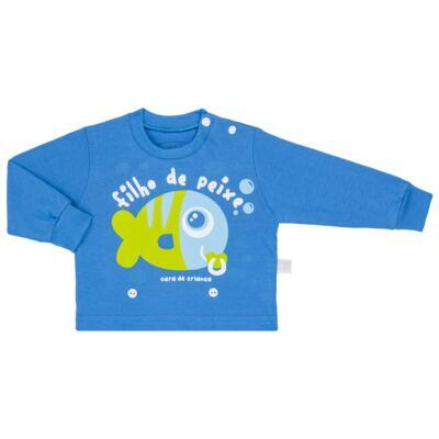 Imagem 2 do produto Pijama 4 botões que Brilha no Escuro Filho de Peixe - Cara de Criança - 4L2704 FILHO DE PEIXE 4L PJ 4 BOTOES LONGO M/MALHA-M