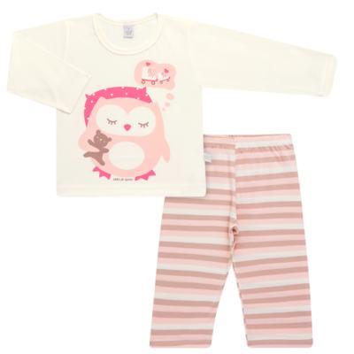 Imagem 1 do produto Pijama longo em malha Corujita - Cara de Sono - L2437 CORUJA L PG-LONGO M/MALHA-4