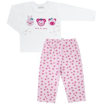 Imagem 1 do produto Pijama longo em malha Bichinhos - Cara de Sono - L1743 ANIMAIS FEM. L PJ-LONGO M/MALHA-1