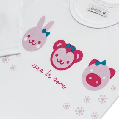 Imagem 4 do produto Pijama longo em malha Bichinhos - Cara de Sono - L1743 ANIMAIS FEM. L PJ-LONGO M/MALHA-4