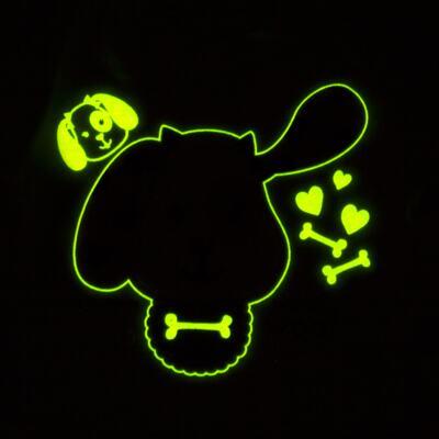 Imagem 4 do produto Pijama 4 botões que Brilha no Escuro Cachorrinha - Cara de Criança - 4L1671-CACHORRINHA 4L PJ 4 BOTOES-LONGO M/MALHA-M