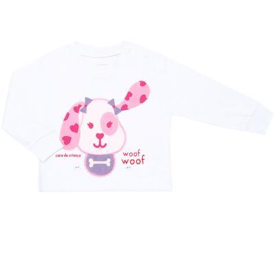 Imagem 2 do produto Pijama 4 botões que Brilha no Escuro Cachorrinha - Cara de Criança - 4L1671-CACHORRINHA 4L PJ 4 BOTOES-LONGO M/MALHA-G