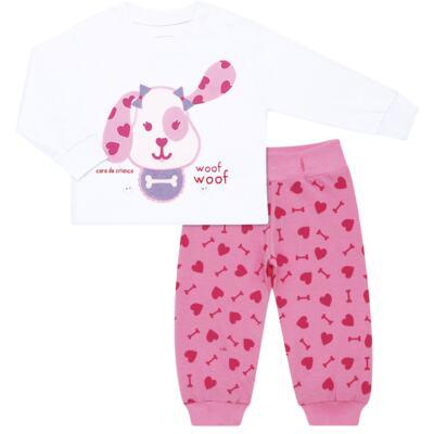 Imagem 6 do produto Pijama 4 botões que Brilha no Escuro Cachorrinha - Cara de Criança - 4L1671-CACHORRINHA 4L PJ 4 BOTOES-LONGO M/MALHA-P