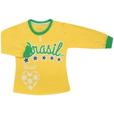 Imagem 2 do produto Pijama longo que Brilha no Escuro Brasil - Cara de Criança - L1112 Pijama longo que Brilha no Escuro Brasil-1