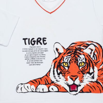 Imagem 3 do produto Pijama longo que Brilha no escuro Tigre - Cara de Criança - L2357 TIGRE L PJ-LONGO M/MALHA -4