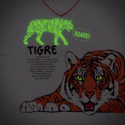 Imagem 4 do produto Pijama longo que Brilha no escuro Tigre - Cara de Criança - L2357 TIGRE L PJ-LONGO M/MALHA -6