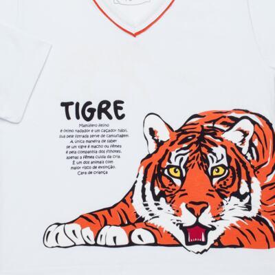 Imagem 3 do produto Pijama longo que Brilha no escuro Tigre - Cara de Criança - L2357 TIGRE L PJ-LONGO M/MALHA -2