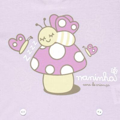Imagem 3 do produto Pijama 4 botões que Brilha no Escuro Butterfly - Cara de Criança - 4L1947 COGUMELO 4L PJ 4 BOTOES - LONGO M/MALHA -GG
