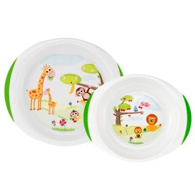 Imagem 2 do produto Conjunto de pratos Raso e de Sopa (12m+) + Kit Talheres em inox (18m+) + Copo Papinha Verde (12m+) - Chicco
