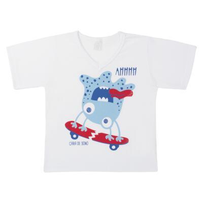 Imagem 2 do produto Pijama curto em malha Monster - Cara de Sono