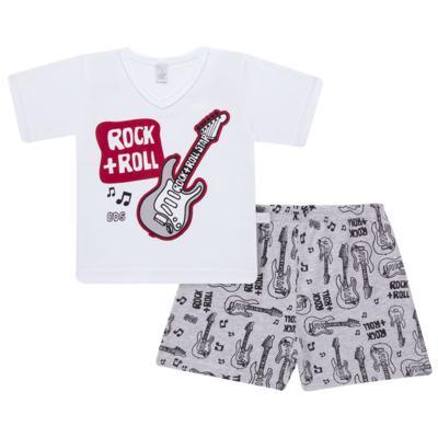 Imagem 1 do produto Pijama curto em malha Rockn´ Roll - Cara de Sono - U2466 ROCK+ROLL U PIJAMA-CURTO M/MALHA -2
