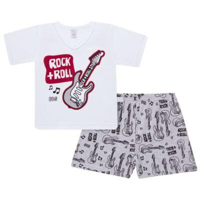 Imagem 1 do produto Pijama curto em malha Rockn´ Roll - Cara de Sono - U2466 ROCK+ROLL U PIJAMA-CURTO M/MALHA -4