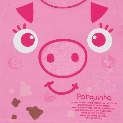 Imagem 2 do produto Camisola que Brilha no Escuro Pink Pig - Cara de Criança - 1379-PIG CA PJ-CAMISOLA M/MALHA-3