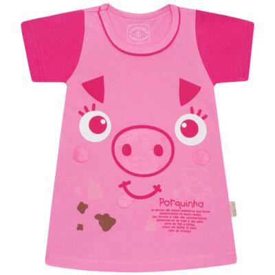 Imagem 1 do produto Camisola que Brilha no Escuro Pink Pig - Cara de Criança - 1379-PIG CA PJ-CAMISOLA M/MALHA-6