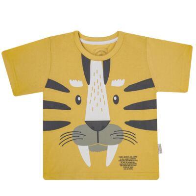 Imagem 2 do produto Pijama curto em malha que Brilha no Escuro Tigre - Cara de Criança - C2897 TIGRE C PJ MG CURTA C/CALCA M/MALHA-3