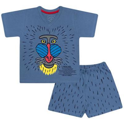 Imagem 1 do produto Pijama curto que Brilha no Escuro Mandril - Cara de Criança - U0903 PIJAMA CURTO QUE BRILHA NO ESCURO MANDRIL-6