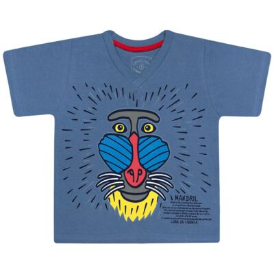 Imagem 2 do produto Pijama curto que Brilha no Escuro Mandril - Cara de Criança - U0903 PIJAMA CURTO QUE BRILHA NO ESCURO MANDRIL-8