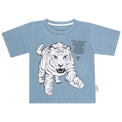 Imagem 2 do produto Pijama curto que Brilha no Escuro Tigre Branco - Cara de Criança - U2283 TIGRE BRANCO U PIJAMA CURTO M/MALHA-3