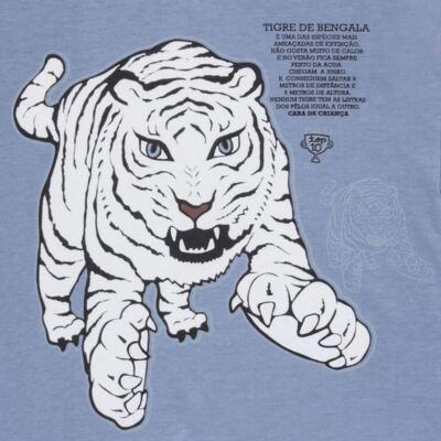 Imagem 4 do produto Pijama curto que Brilha no Escuro Tigre Branco - Cara de Criança - U2283 TIGRE BRANCO U PIJAMA CURTO M/MALHA-3