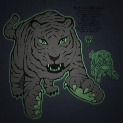 Imagem 3 do produto Pijama curto que Brilha no Escuro Tigre Branco - Cara de Criança - U2283 TIGRE BRANCO U PIJAMA CURTO M/MALHA-2