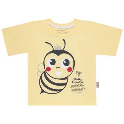 Imagem 2 do produto Pijama curto que Brilha no Escuro Little Bee - Cara de Criança - U2278 ABELHA PIJAMA-CURTO M/MALHA -2