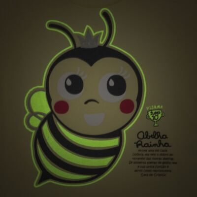 Imagem 3 do produto Pijama curto que Brilha no Escuro Little Bee - Cara de Criança - U2278 ABELHA PIJAMA-CURTO M/MALHA -2