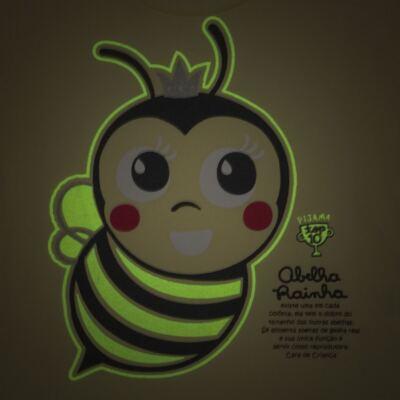 Imagem 3 do produto Pijama curto que Brilha no Escuro Little Bee - Cara de Criança - U2278 ABELHA PIJAMA-CURTO M/MALHA -4