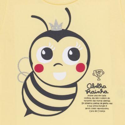 Imagem 4 do produto Pijama curto que Brilha no Escuro Little Bee - Cara de Criança - U2278 ABELHA PIJAMA-CURTO M/MALHA -4